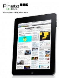 AT PINETA HOTEL MONSANO - JESI, IN THE MORNING, YOU READ THE NEWSPAPER ON THE IPAD 2